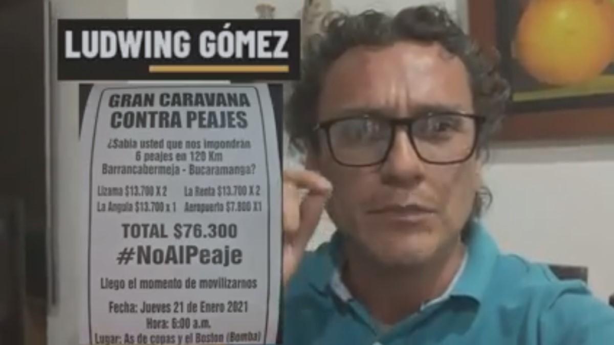 """""""La ANI engaña sobre beneficios en pago de los peajes"""": Ludwing Gómez"""