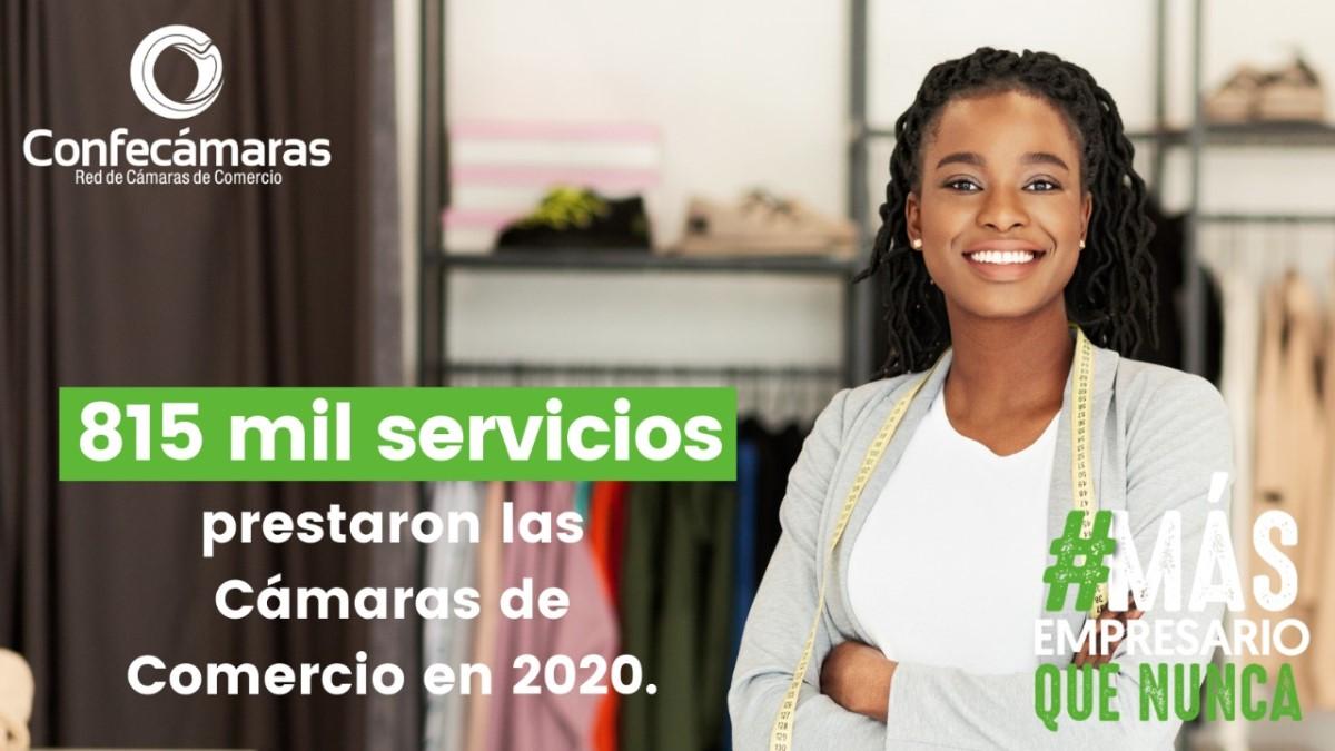 Más de 815 mil servicios prestaron en el país, las Cámaras de Comercio, reveló Confecámaras