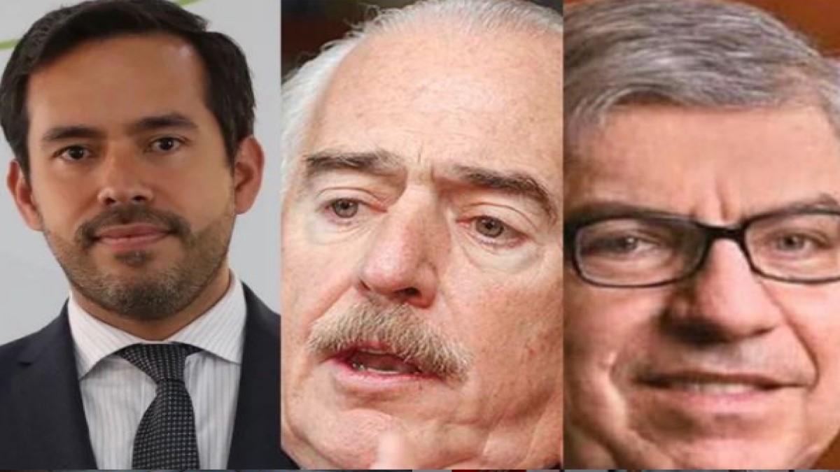Lisandro Junco, Andrés Pastrana y César Gaviria