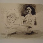 Homme Couchee et Femme Assise