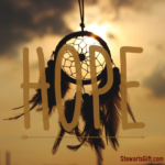 "Dreamcatcher with text ""HOPE"""