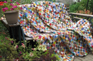 Picture of Large Quilt made with Scraps of Fabric