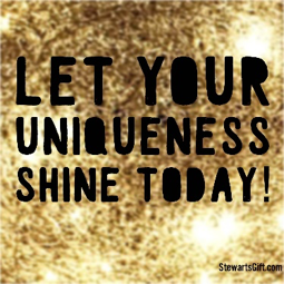 "Text ""LET YOUR UNIQUENESS SHINE TODAY!"""