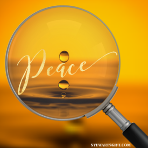 "Magnifying Glass with text ""Peace"""