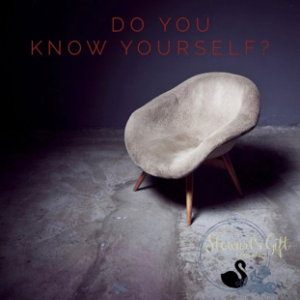 "Chair with text ""Do You Know Yourself"""