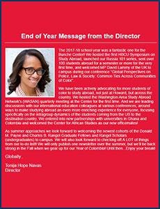 Issue 12 - Ralph J. Bunche International Affairs Center Newsletter!