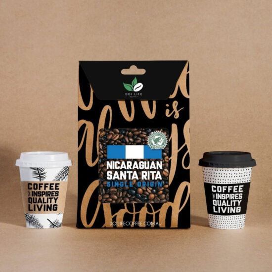 Coffee Bag Cup Mockup
