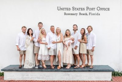 rosemary beach family photography at post office