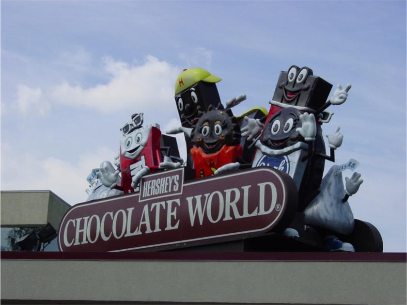 Hershey's Chocolate World sign