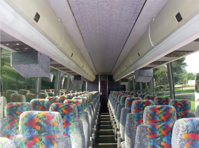 Interior of a 56 passenger bus