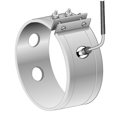 Thermocouple Holes for Mica Band Heater