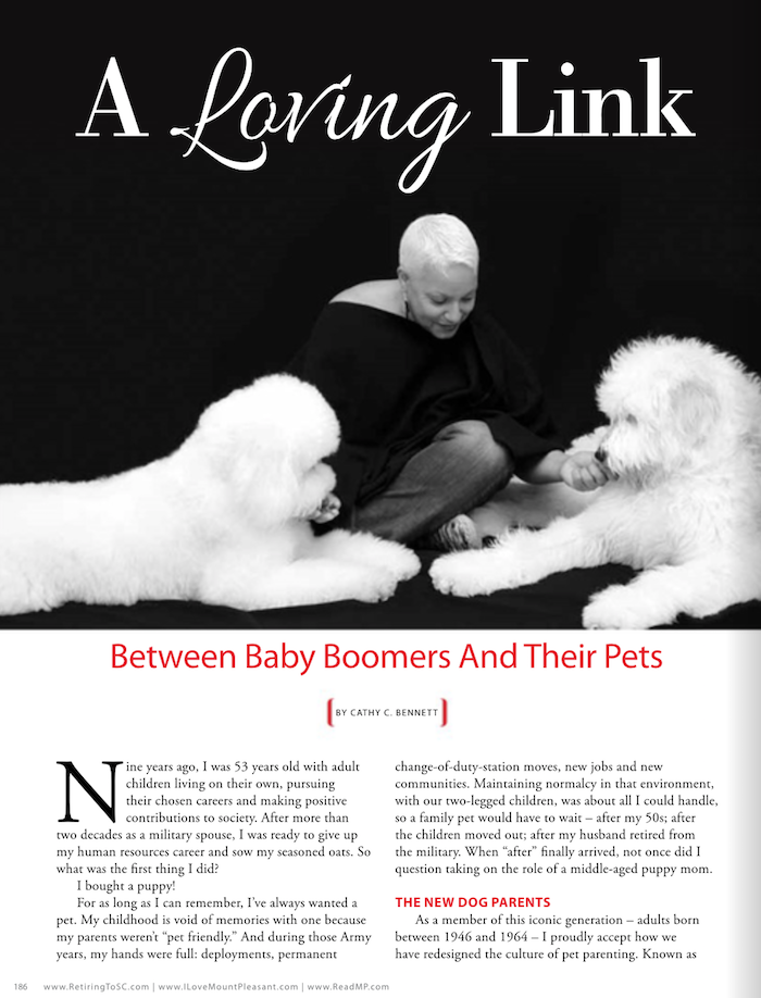 A LOVING LINK BETWEEN BABY BOOMERS AND THEIR PETS