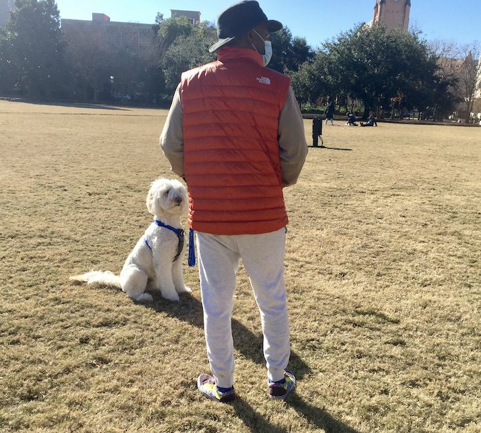 Dogs, humans and diabetes. There's a special relationship between Jaxson and Lee, perhaps that's why it was so important for him to let us know Lee's blood sugar was dropping.