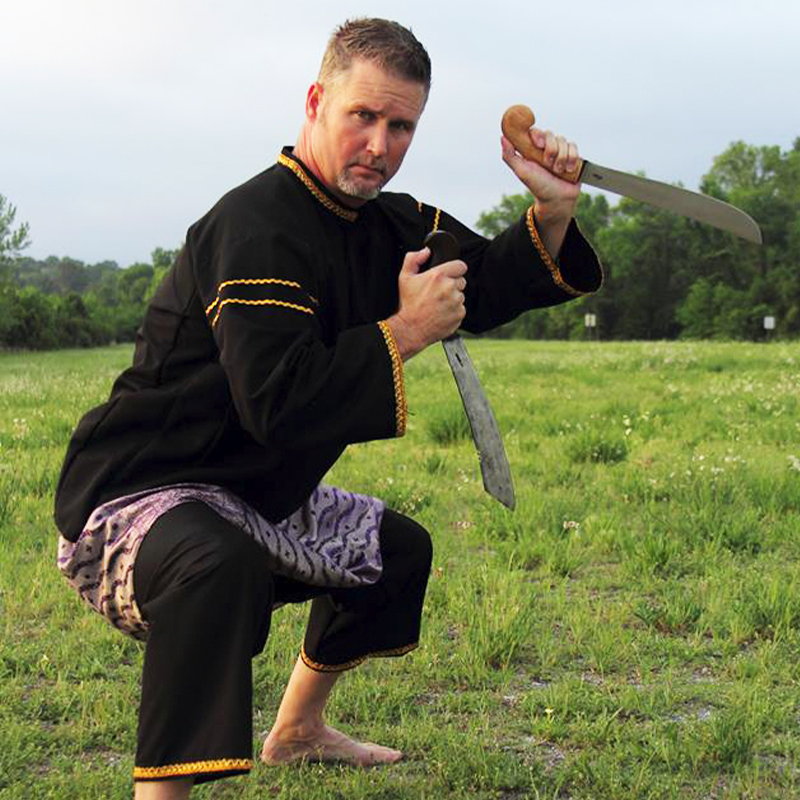 Guru Chris Robinson, Senior instructor of Silat, STACT, and other marital arts.