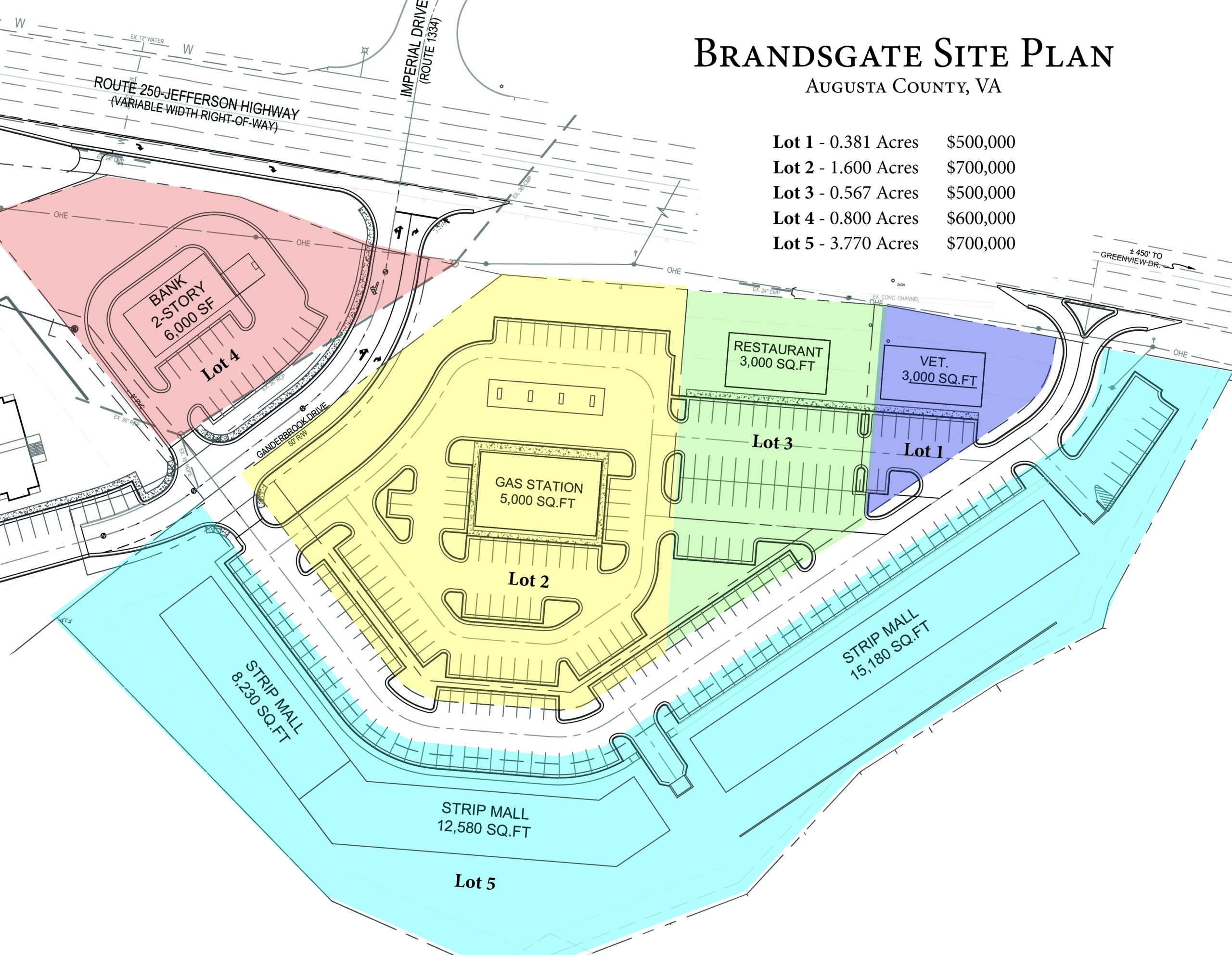 Commercial Land for Strip Mall