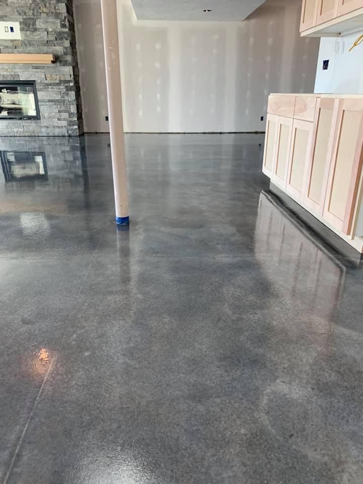 Stained concrete floor Omaha