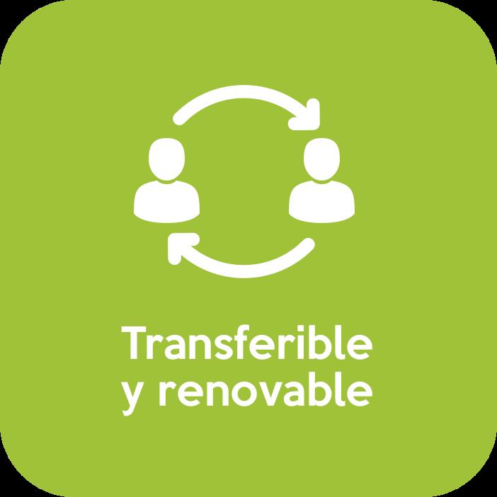 Transferible y renovable