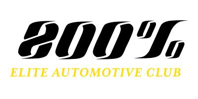 800percent elite auto club logo blackgold