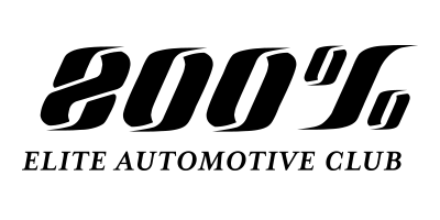 800 percent elite auto club logo blackout