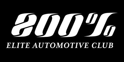 800 percent elite auto club logo whiteout
