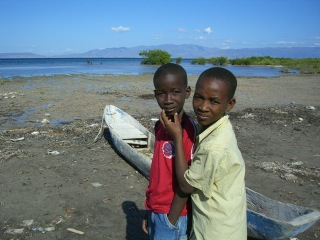 Two boys ready to go fishing