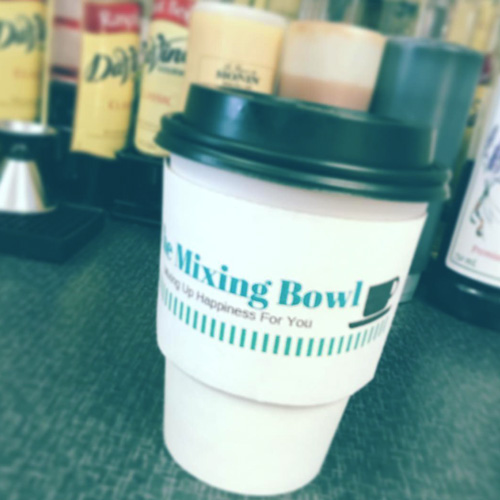 coffee and pastries served at The Mixing Bowl Cafe in Gering