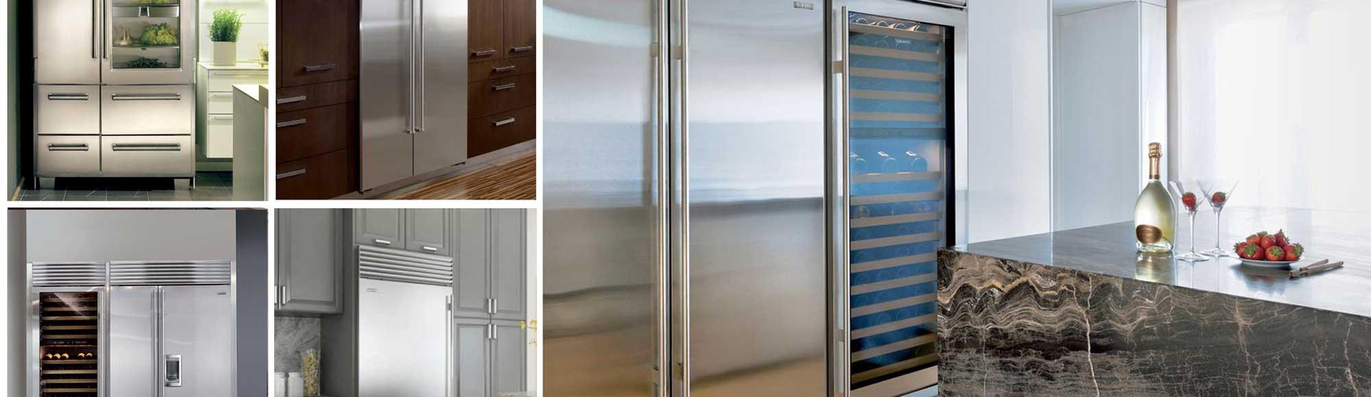 Various sizes of fridges
