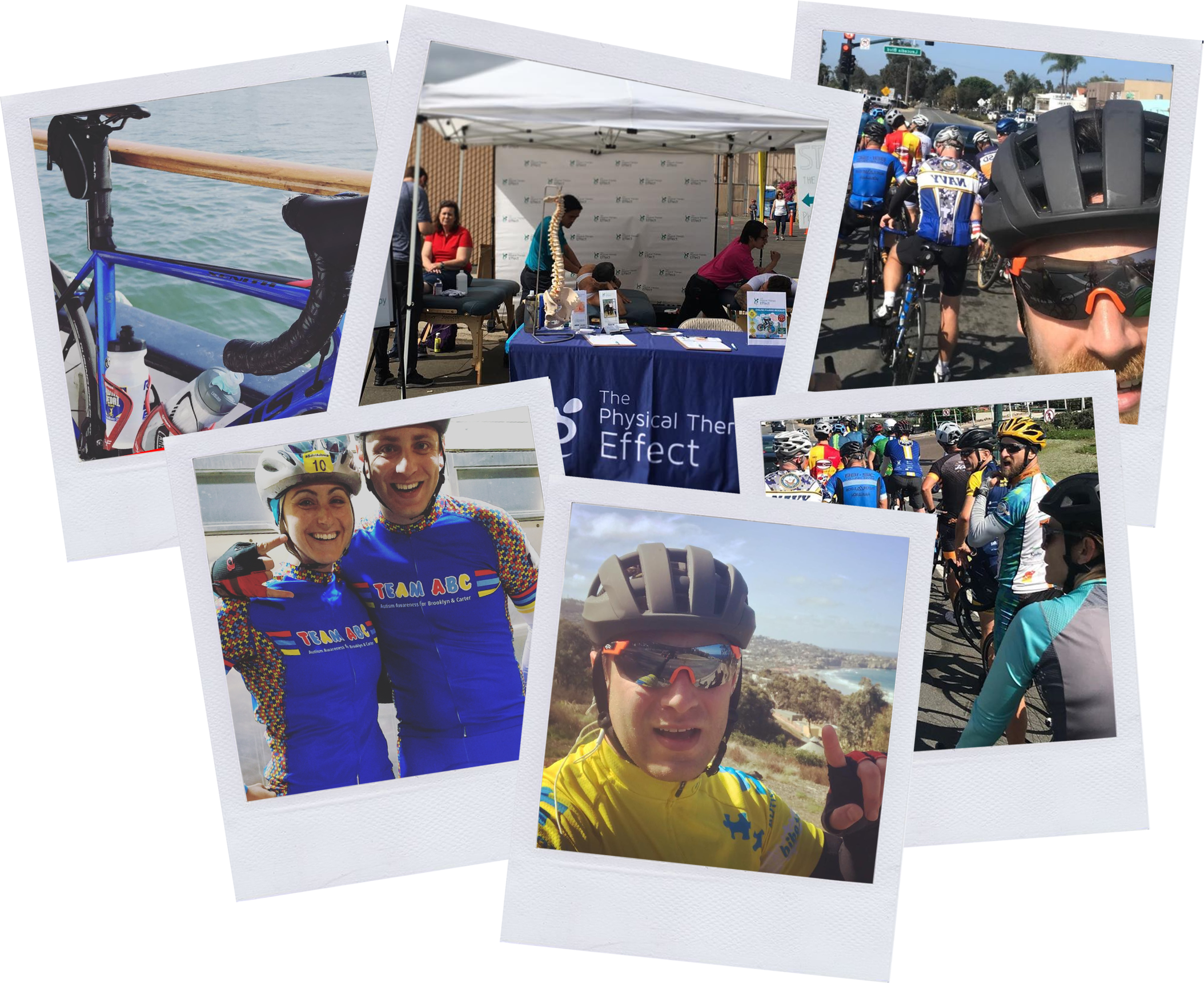PT Effect team at cycling events