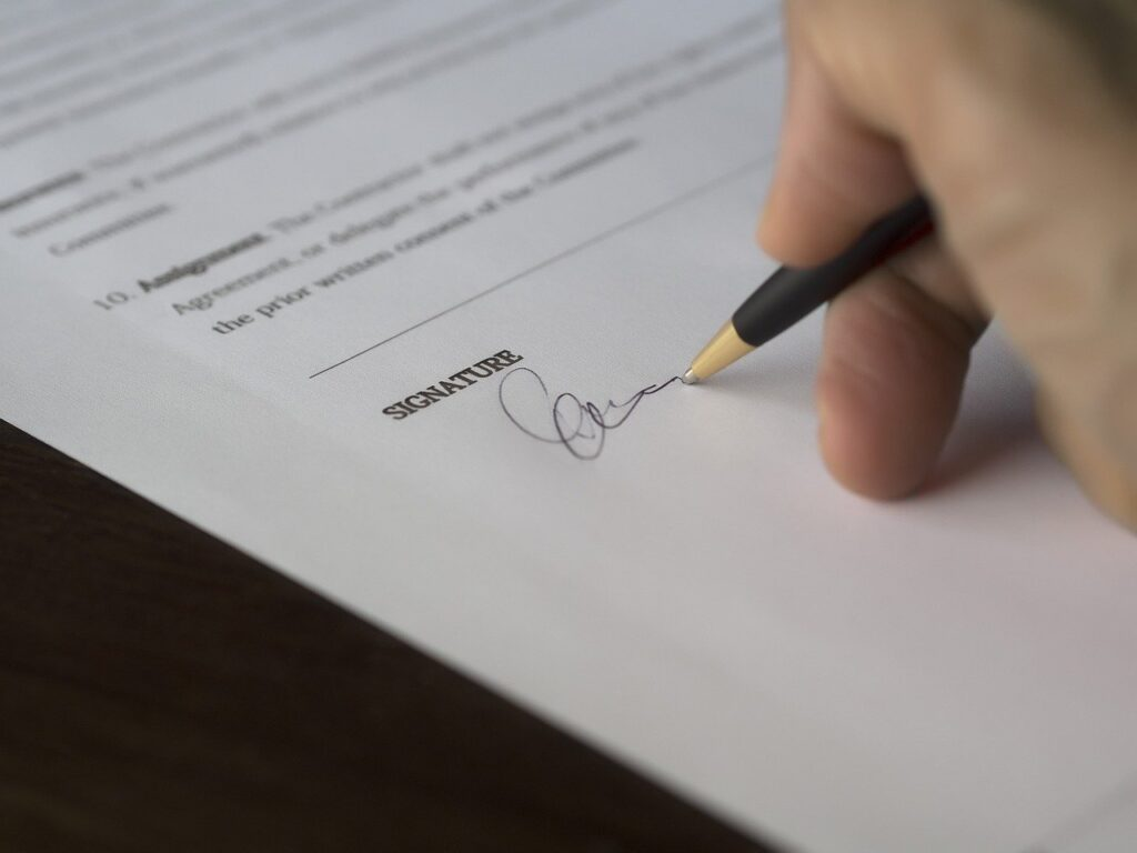 Carefully read any paperwork before signing