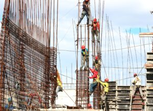 Workers doing construction