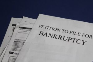 Bankruptcy papers.