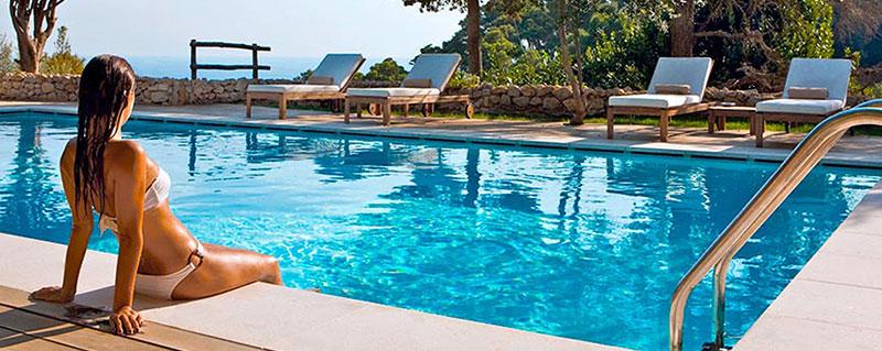 gilbert poolman woman near clean pool