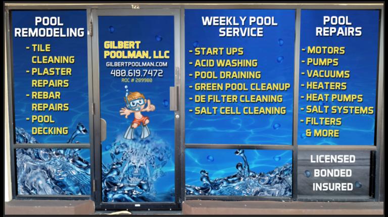 gilbertpoolman services vinyl banner