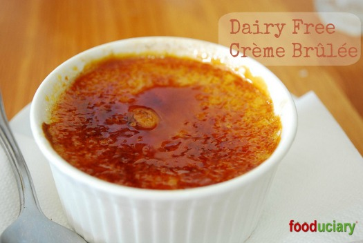Dairy free creme brulee made with coconut milk