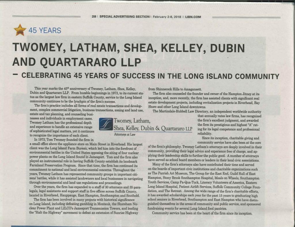 LIBN - Shea - Celebrating 45 Years