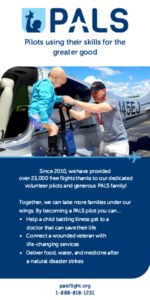 Volunteer pilots needed to fly critical medical and supply missions