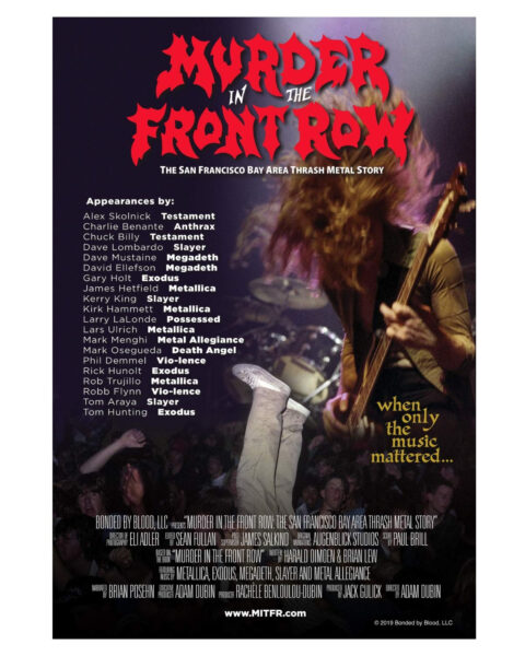Murder In The Front Row: The Francisco Bay Area Thrash Metal Story