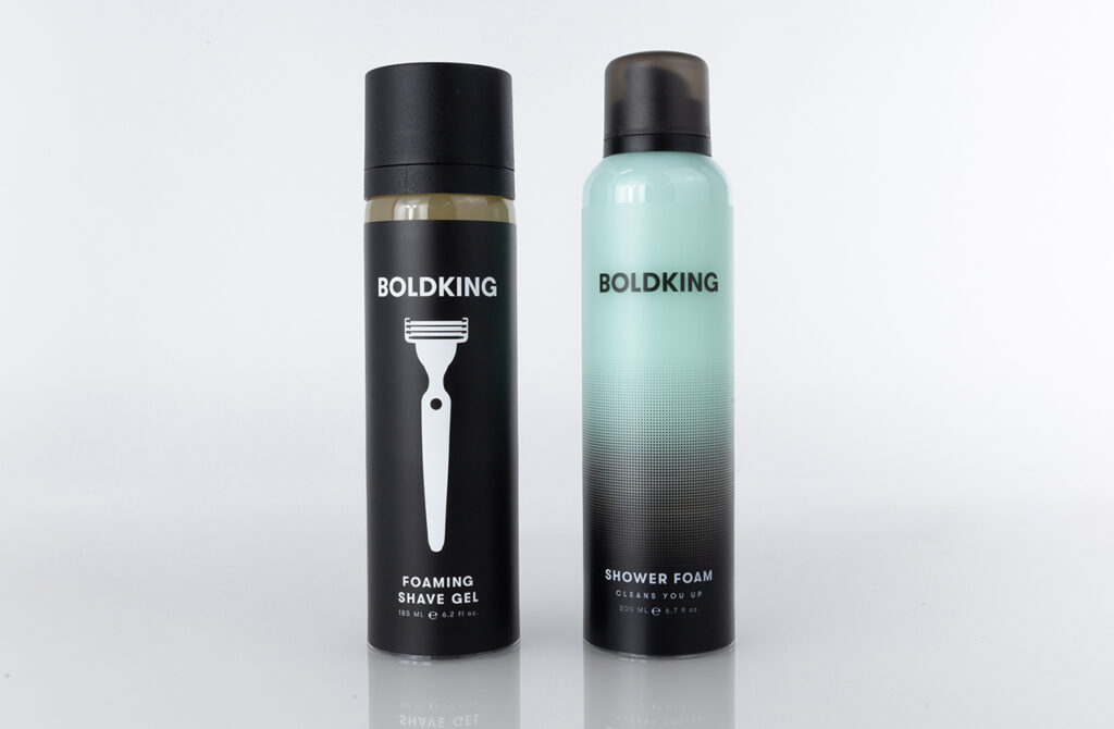 Photo of Bold King shave and lotion products
