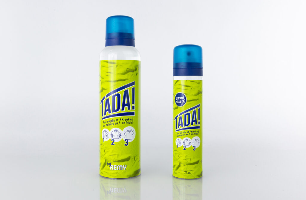 Photos of two TADA laundry products