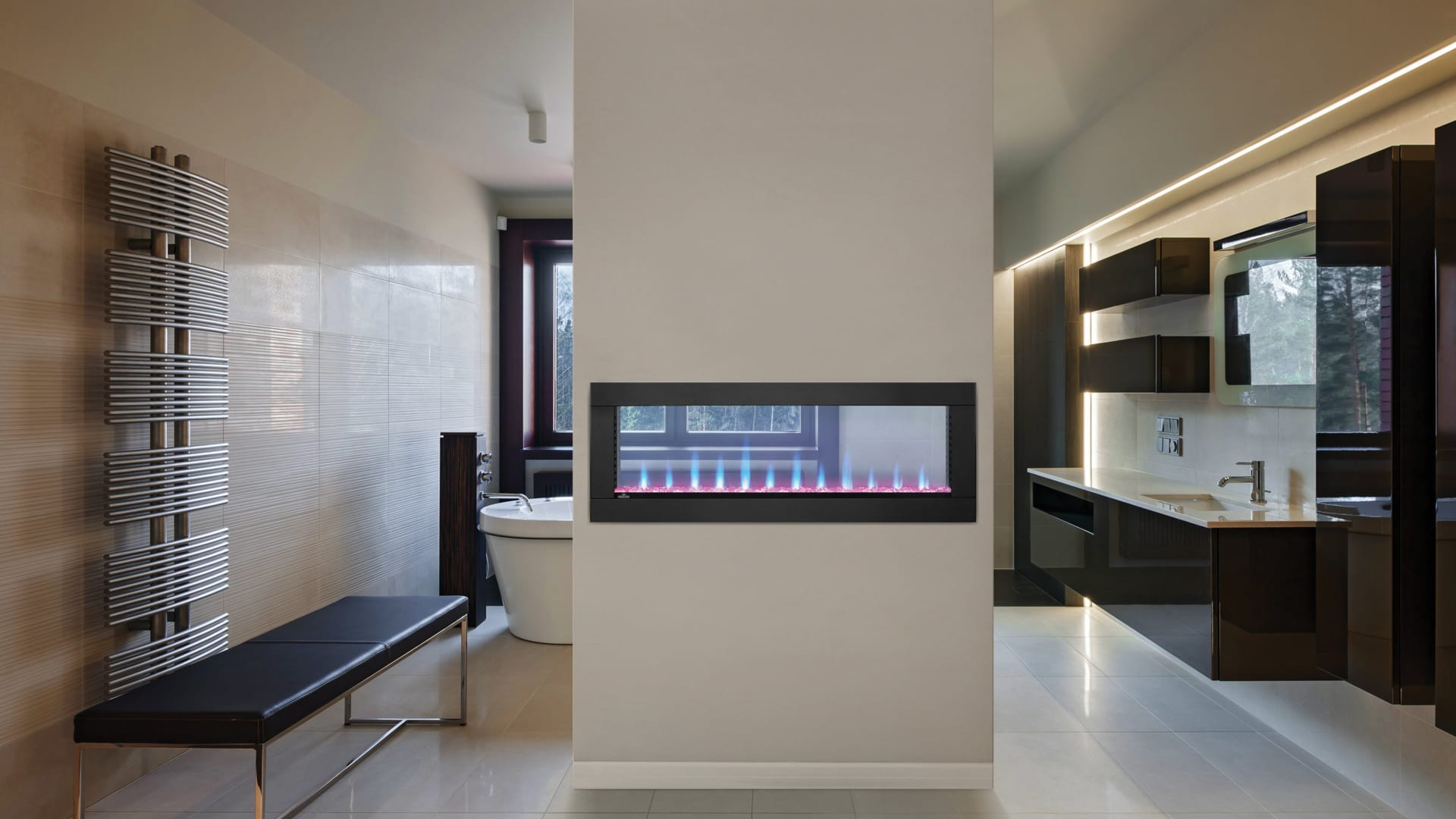 an electric fireplace image