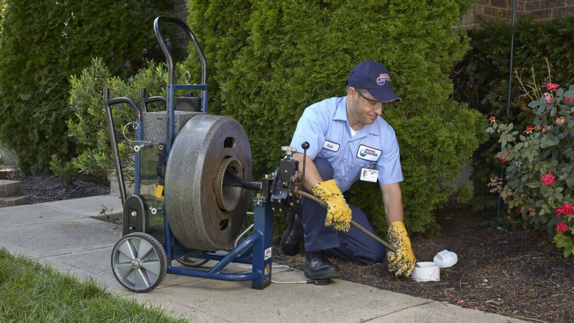 Plumber Cleaning Sewer Line Residential Roto-Rooter Traverse City