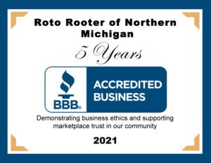 Better Business Bureau 2021 Roto-Rooter of Northern Michigan Award