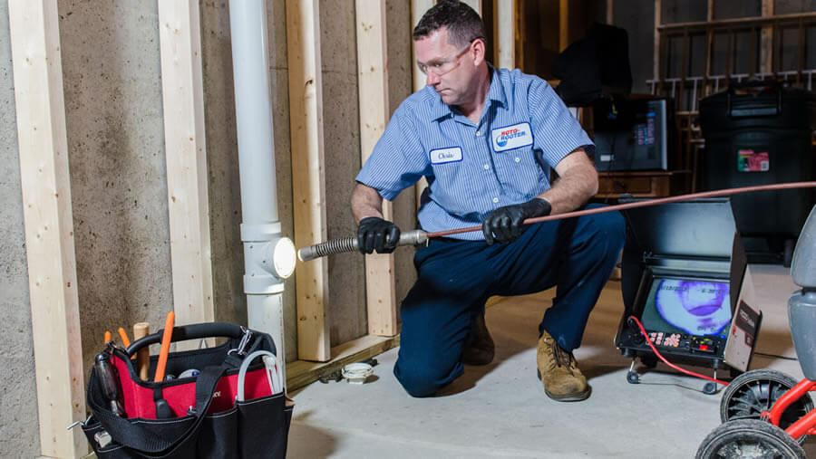 Camera Inspect Plumbing by Roto-Rooter of Traverse City Michigan