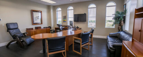 A meeting room for rent in Boca Raton.