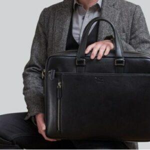 Man holding a Doshi briefcase