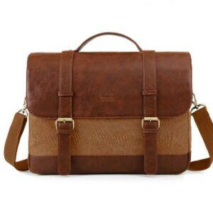 Ecossusi brown briefcase bag