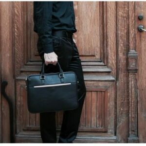 Man carrying a Setton Brothers briefcase