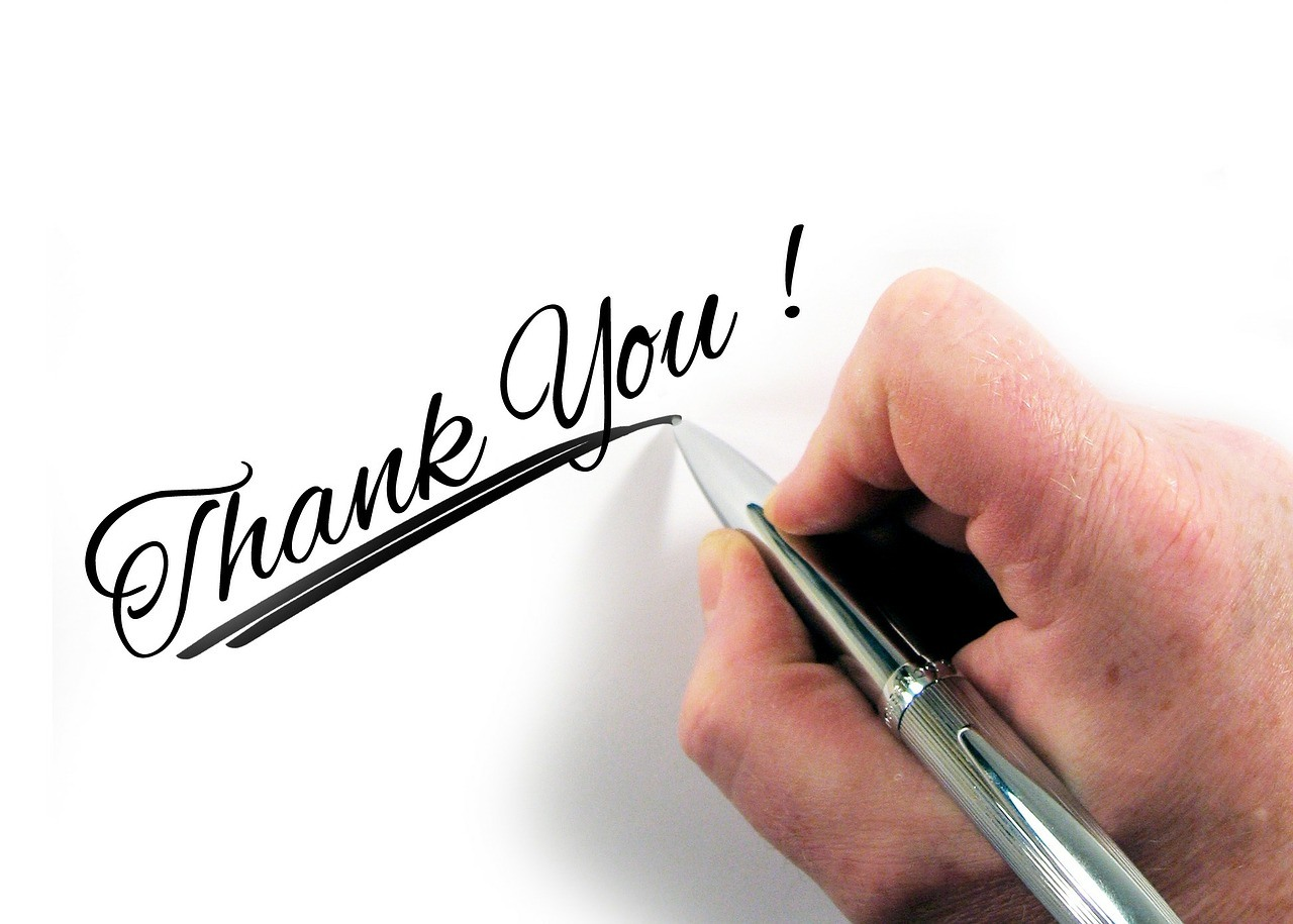 Handwritten thank you note for your boss