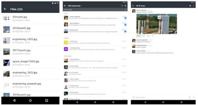 Screenshot of Rocket.Chat interface, a great alternative to Slack.