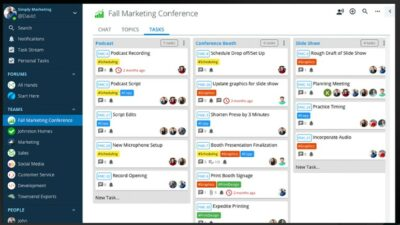 Screenshot of Ryver software interface, a Slack alternative